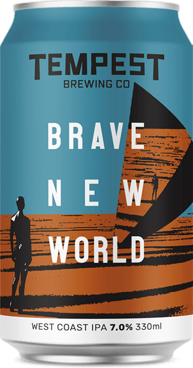 Brave New World West Coast IPA 330ml can