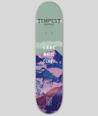 Long White Cloud Skate Deck